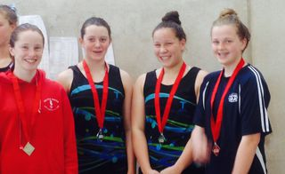 Girls relay picks up silver at South Island Champs