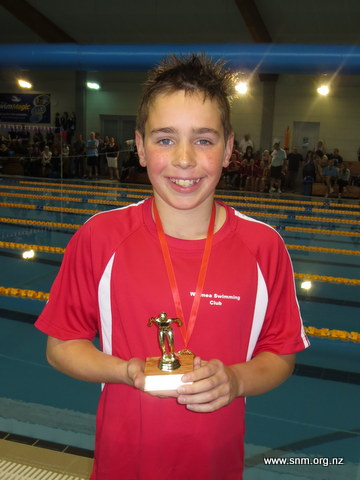 Oliver Stark of Waimea won Best Overall Male Swimmer