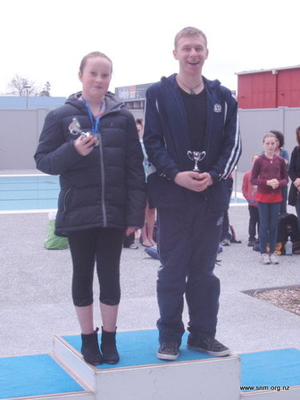Cassandra and Toby top swimmers at Winter meet